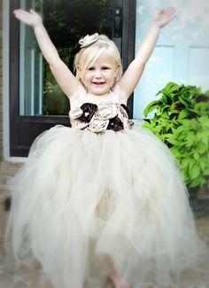 Baby girl tutu dress flower girl tutu dress by pinkgiraffebowtique, $69.95