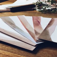 Unique wedding invitations for unique guests. Dip dyed  in fruit and vegetable juice.