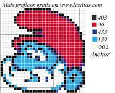 Fabinha Gráficos Para Bordados: Smurfs