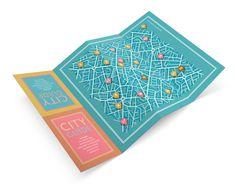 City Map Brochure Design- love the colors!