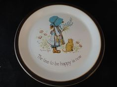 1970s Holly Hobbie Plate by Barratts of Staffordshire #Retro