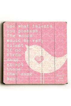 Use What Talents Distressed Wood Wall Plaque by The Whimsical Wall