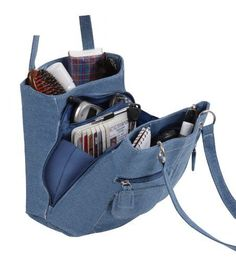 Denim Jean Blue Ladies Trendy Handbag Purse Tote Bag $19.97