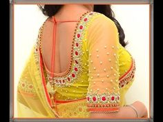 9 Trending Back Blouse Designs in Chennai…! #Ezwed #Blouse #Designs