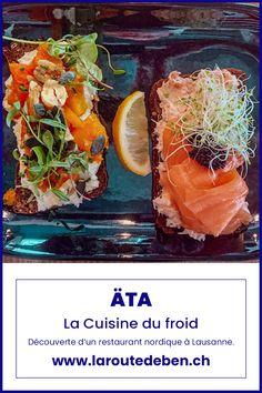 Un restaurant dont la mise en avant est la fusion des pays nordiques. Un endroit gourmand et conceptuel. #lausanne #restaurant #nordique #suisse Lausanne, Mets, Nordic Kitchen, Fusion Food, Small Restaurants, Food Hacks, Home Kitchens