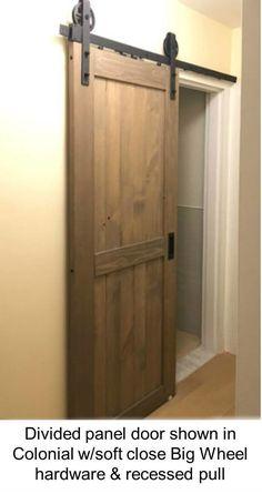 Viba Divided Panel Solid Pine Barn Door