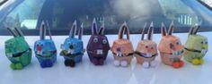 Fillable egg carton bunnies