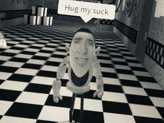 Hug my suck Best Memes, Dankest Memes, Funny Memes, Hilarious, Roblox Funny, Roblox Memes, Ayyy Lmao, Growing A Mustache, Me Too Meme