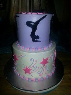 Gymnastics Themed Cake cakepins.com