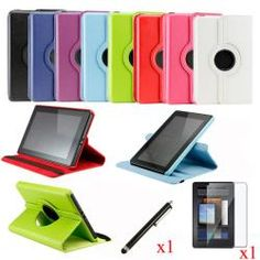 @Overstock - Designed with functionality and visual elegance in mind, this case offers dual layer protection. This unique case provides users various viewing and typing angles in both horizontal and vertical views.http://www.overstock.com/Electronics/Rotating-Leather-Amazon-Kindle-Fire-Case-Cover/6532304/product.html?CID=214117 $16.99