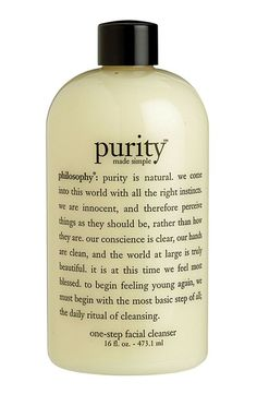philosophy 'purity made simple' one-step facial cleanser available at #Nordstrom! I need this already went through two bottles! It is the best