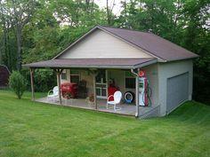 Backyard garage shop backyard shed hobby shop garage home design ideas app Garage Shed, Barn Garage, Garage House, Garage Plans, Garage Workshop, Shed Plans, Dream Garage, Garage Ideas, Small Garage