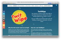 Как удалить все ваши твиты двумя кликами - http://lifehacker.ru/2014/01/24/kak-udalit-vse-vashi-tvity-dvumya-klikami/