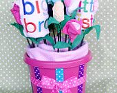 baby girl shower centerpieces baby clothes bouquet baby shower