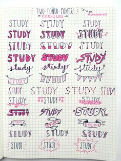 studypetals:  3.8.16+2:05pm // 12/100 days of productivity // made a more advanced version of my font/banner reference post! happy note taking :D