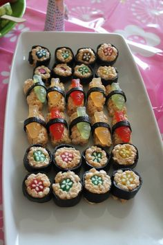 Rice crispies sushi for the Kimmidoll party