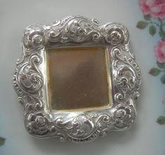 Antique Repousse Silver Butter Pat Nut Dish by Vintageartshome, $45.00