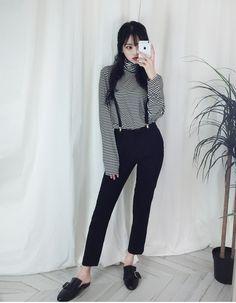 #korean, #fashion, #stripes