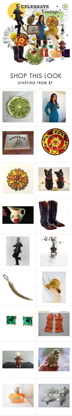 """Celebrate Vintage!"" by seasidecollectibles ❤ liked on Polyvore featuring Hostess and vintage"