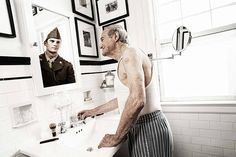 Reflections by Tom Hussey: Heart breaking.  Ad campaign for Novartis' Exelon Patch which is used to treat memory problems associated with Alzheimer's disease. #Tom_Hussey #Novartis #Exelon #Alzheimers_Disease