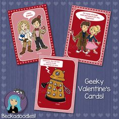 The most perfect Doctor Who Valentine's Day cards. They are family friendly too!