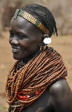 Nyangatom woman. Near Illemi, South Sudan by World Discoverer. people photography, world people, faces