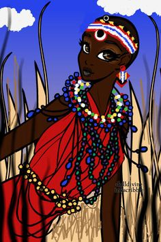 Maasai Mara Tribeswoman ~ made by Lyzz1eLusc1ous using the Neptune's Daughter doll maker http://www.dolldivine.com/neptunes-daughter-mermaid-dress-up.php