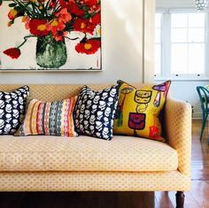 So many beautiful patterns on these pillows.