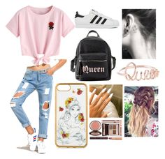 """Untitled #11"" by amcracea-1 ❤ liked on Polyvore featuring WithChic, adidas, Charlotte Russe and Charlotte Tilbury"