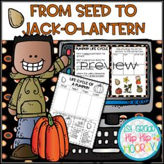 We've paired up Interactive Slides for From Pumpkin to Jack-o-Lantern and the Paper Pencil Resource From Seed to Jack-o-Lantern and created the perfect classroom team!!Purchase this bundle and get the Interactive Slides FREE!View details here.Follow me on Facebook.Follow me on Pinterest.Visit my web... Pumpkin Life Cycle, Little Pumpkin, Word Work, Life Cycles, Literacy, Seeds, Classroom, Math, Learning