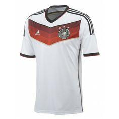 Dit is het #thuisshirt van Duitsland dat gedragen zal worden tijdens de WK2014. Dit #voetbalshirt van @adidas is gemaakt met de Climacool technologie. #dws