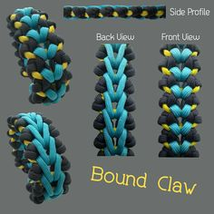 Bound Claw Paracord Bracelet Designs, Paracord Belt, Paracord Braids, Paracord Bracelets, Paracord Tutorial, Paracord Ideas, Paracord Projects, Puppies Stuff, Scout Knots