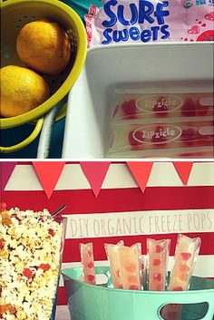 We fill our Zipcicles (zip-top ice-pop pouches that you can fill with recipes) with homemade lemonade & Surf Sweets Organic Fruity Hearts. See how: http://ldig.it/1HzpLNb