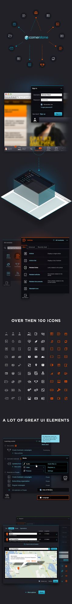 CornerStone CMS by AGENTE , via Behance