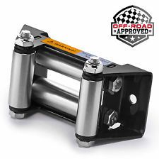 """Heavy Duty ATV Winch Roller Fairlead 4 Way Cable Lead Guide 4-7/8"""" Bolt Pattern Was: $30.58 Now: $15.29."""