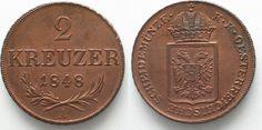 1848 Haus Habsburg ÖSTERREICH K.u.K. 2 Kreuzer 1848 A FRANZ JOSEPH I. Kupfer PRACHTSTÜCK!!! # 95603 st Coin Collecting, Austria, Joseph, Personalized Items, House, Copper