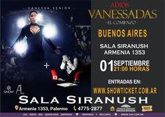 """- POR PRIMERA VEZ EN BUENOS AIRES - ------------------- VANESSA SENIOR  ------------------- - Presenta su espectáculo ADIOS  VANESSADAS """" EL COMIENZO"""" - El Viernes 01 de Septiembre en la distinguida @salasiranush a las 21:00 horas es la cita  -  Anticipadas  http://ift.tt/2sOy5XU  info 1156426674 - ESTO SERA EPICO UNICA FUNCION ESPECIAL -  - #vanesadas #Adios #elcomienzo #live #Show #espectáculo #StandUp #venezolanosenelexterior #venezolanosenelextranjero #venezolanosenbuenosaires"""