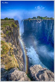 the majestic Victoria Falls