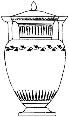 greek ancient vase coloring page