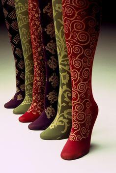 Patterned legs