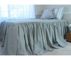 New to CustomLinensHandmade on Etsy: Bedspread dark linen bed cover linen bedding linen bed cover shabby chic bedding queen bedspread king bedspread (263.00 USD)