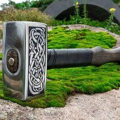 Viking hammer with Vegvisir Symbol carpentry woodwork | Etsy Blacksmith Hammer, Hammer Tool, Larp, Bushcraft, Bronze Anniversary Gifts, Bronze Gifts, Viking Armor, Vegvisir, Outdoor Sconces