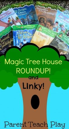 Magic Tree House: the first chapter books we ever read aloud, starting around age 3. These also make great chapter books for kids becoming proficient as beginning readers. Come see our review, a list of all the books in the series, and lots of great activities you can do with the books, plus link up any posts YOU have about the MTH series so we can build a great resource for parents, teachers, and homeschoolers everywhere!!