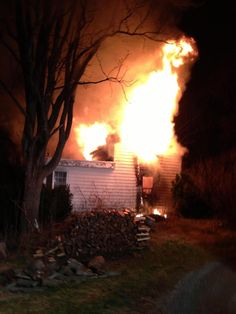 House fire in the 19700 block of Mouth of Monocacy Road in Dickerson. Firefighters arrived on the scene and encountered a well established fire on the first and second floor. 2 Adult occupants of the home escaped prior to the arrival of fire rescue. Photo is courtesy of FF S. Kisner, MCFRS