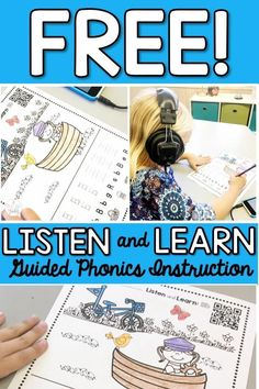 Use this Listen and Learn Guided Phonic Instruction with the whole class, or in kinder, 1st, or 2nd grade centers. This no prep activity allows for single assessments while the rest of the class is busy working based on recorded instructions. Subscribe and get this FREE resource!