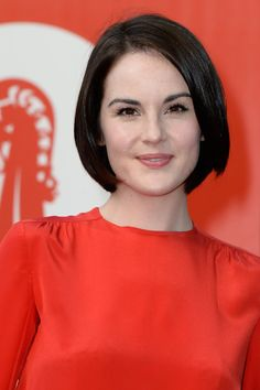 Michelle Dockery Bob - Michelle Dockery opted for mod inspiration for her sleek bob at the Miu Miu event in Italy. Michelle Dockery, Hair Styles For Women Over 50, Medium Hair Styles, Short Hair Styles, Short Hairstyles For Women, Bob Hairstyles, Hair Inspo, Hair Inspiration, Fashion Inspiration