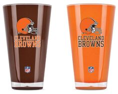 Cleveland Browns Tumblers - Set of 2 (20 oz)