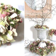seidenfeins Blog vom schönen Landleben: Hortensien * hydrangea Wreaths, Table Decorations, Furniture, Blog, Home Decor, Dekoration, Country Living, Door Wreaths, Deco Mesh Wreaths