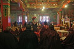 Experiencing a Puja in Tengboche, Nepal.