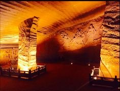 The Longyou Caves are a series of large artificial caverns located at Phoenix Hill, near the village of Shiyan Beicun on the Lan River in Longyou County, Quzhou prefecture, Zhejiang province, China. These are possible
